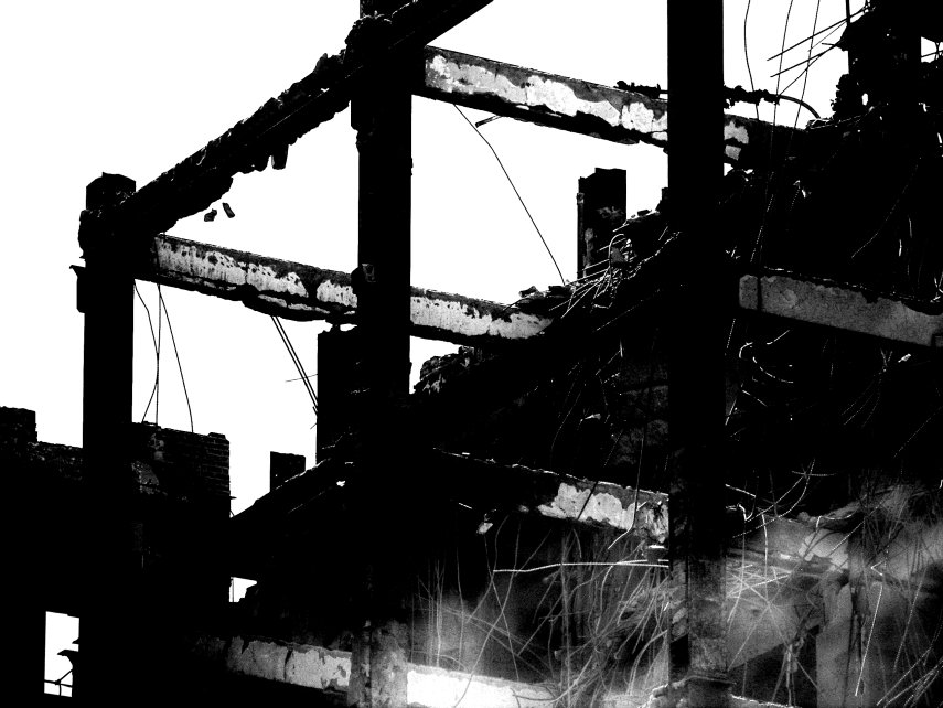 The skeleton of a building. by Littlelion225