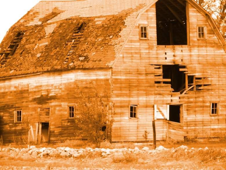 Sepia Barn by Littlelion225