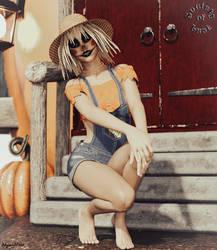 Scarecrow Tizia and the Little Pumpkin House