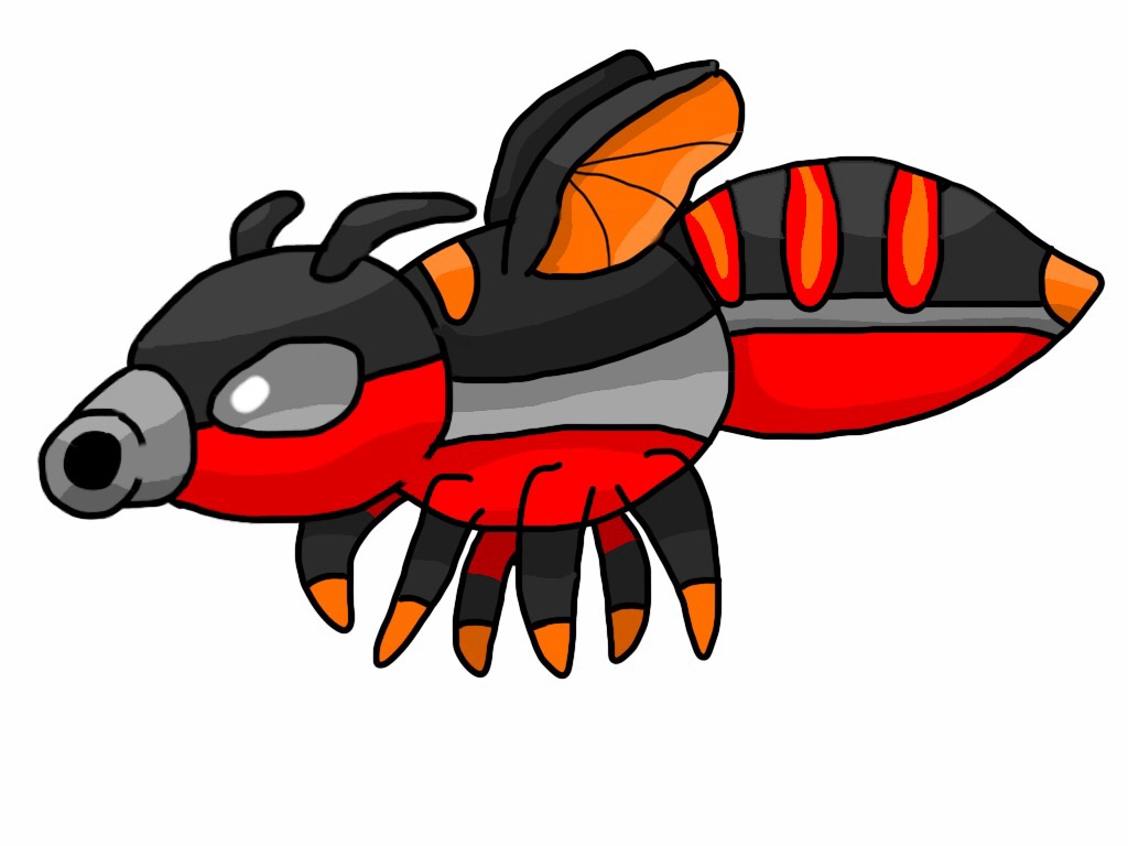 Sectorch, Torch Fly Fakemon by K-Egg