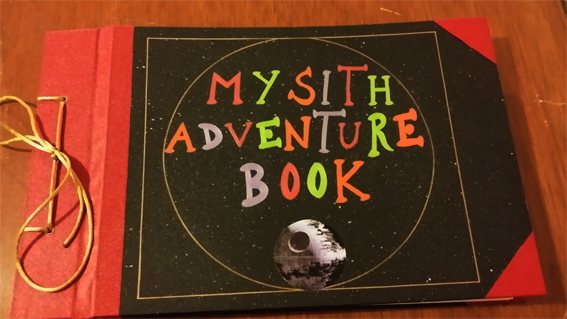 My sith adventure book, From pixar movie: UP abd S by canela123