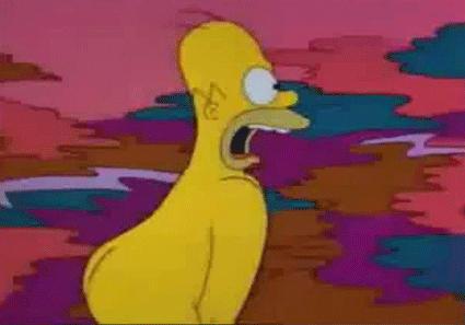 Homer running naked by nICk619gtX