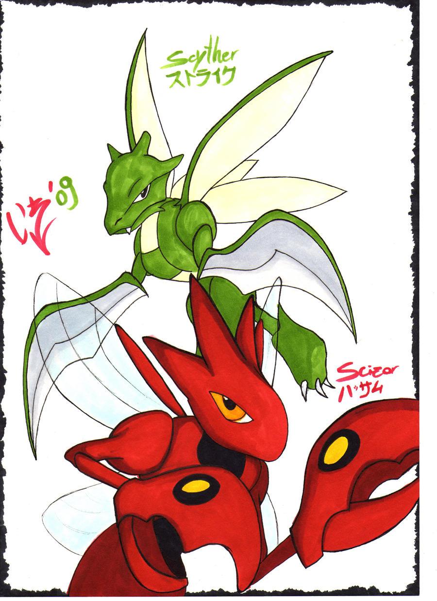 Scyther and scizor