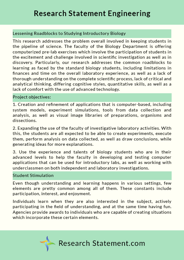 Research Statement English Narrative Essay Topics Thesis Example