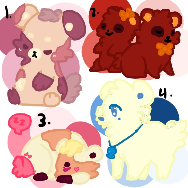 Cutie Bears FREE ADOPTS by Elementalmaniac74