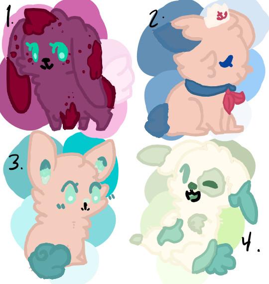 Cutie Bunnies FREE ADOPTS by Elementalmaniac74