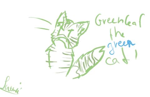 Greencat meme by Lavii-Chan