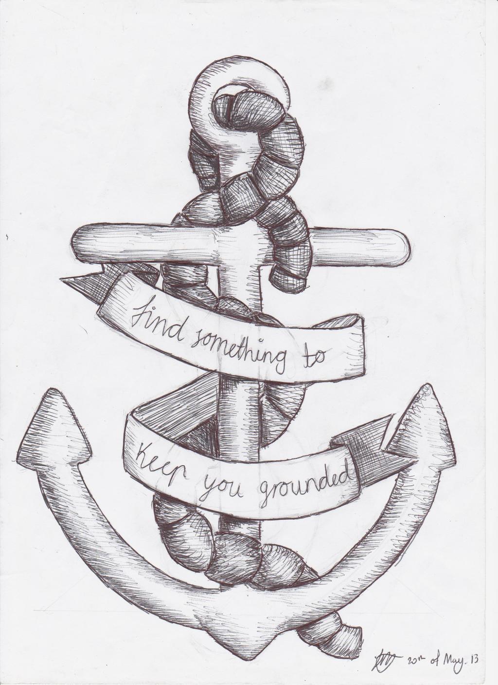anchor tattoo design by sempeternally on deviantart. Black Bedroom Furniture Sets. Home Design Ideas