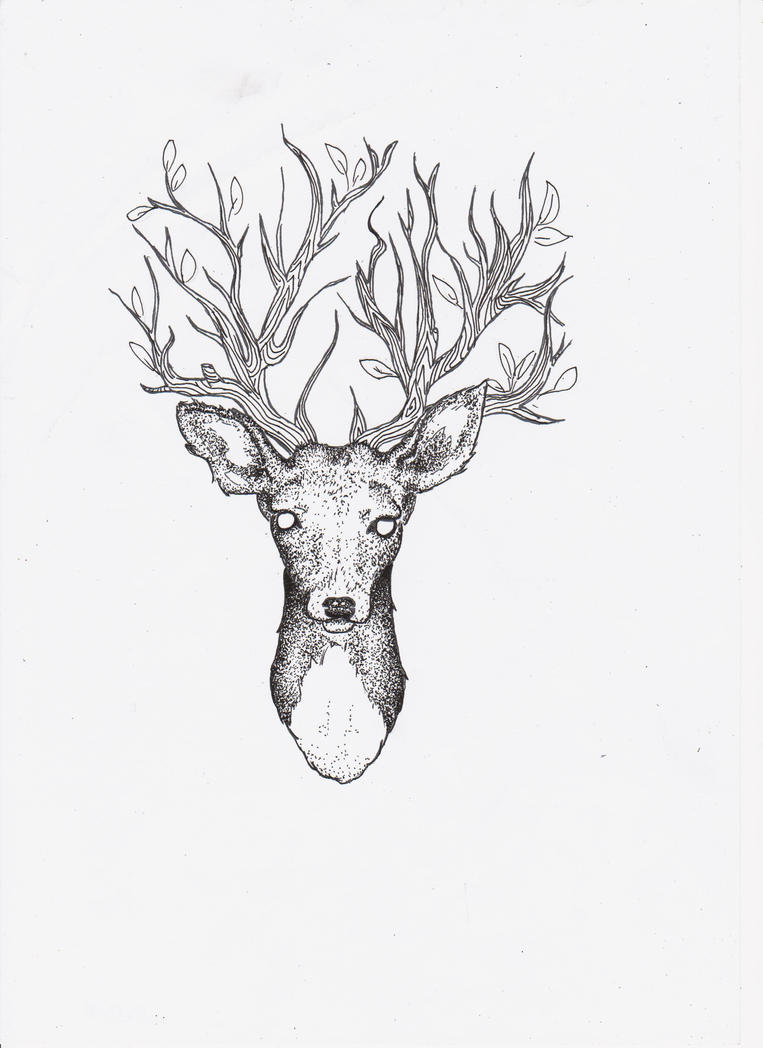 deer antlers drawing easy - photo #44