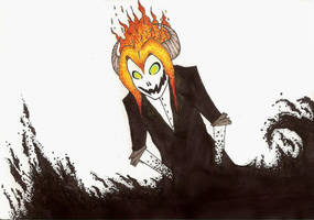 his head is on fire by Jess2007