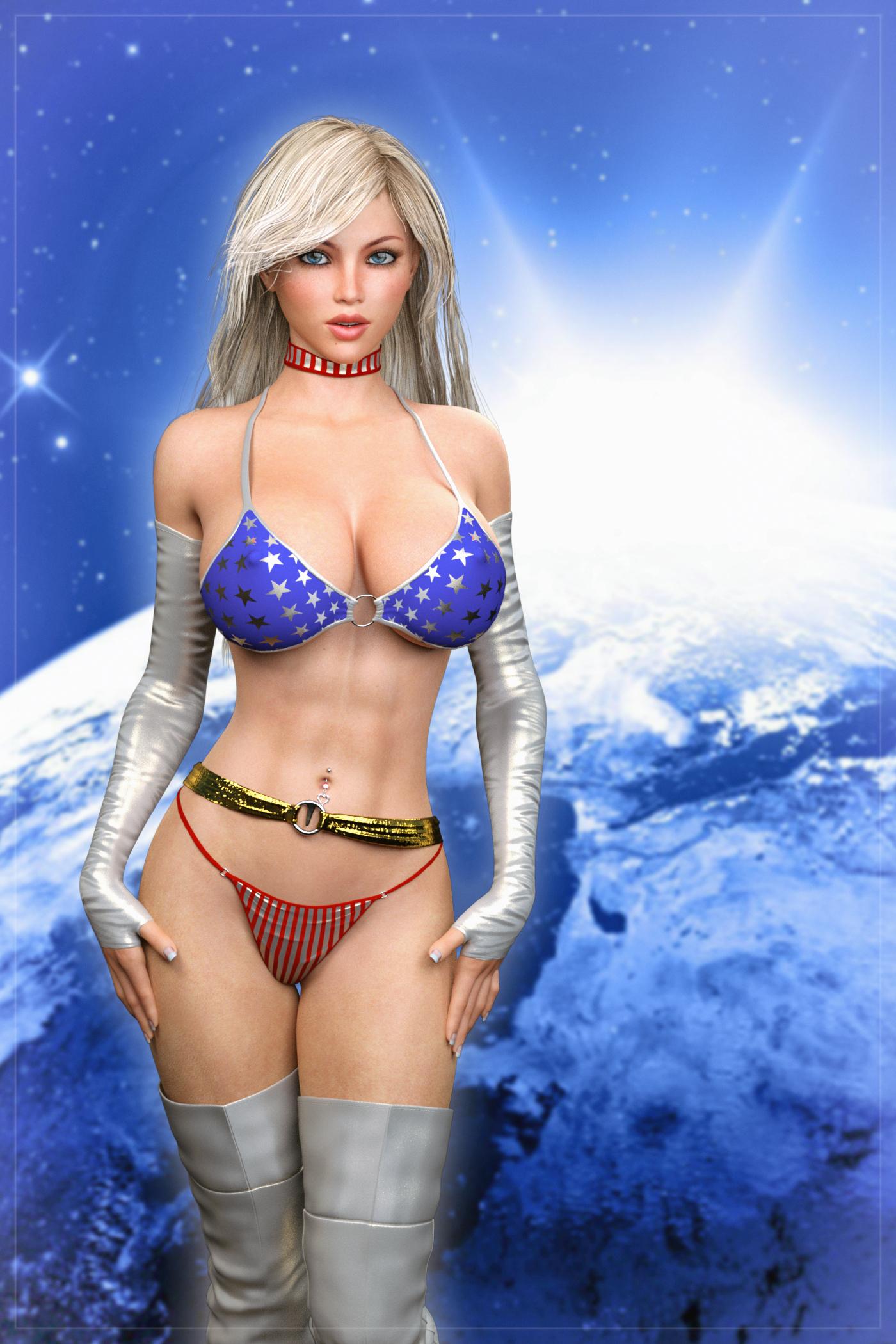 Star spangled girl, intro ... (IRay) by darkhound1