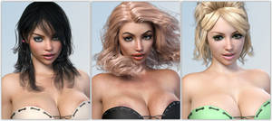 Some V4 conversions - portraits ... (IRay)