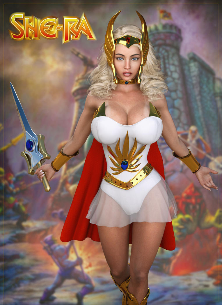 Jessica cosplay as She-Ra ... (IRay) by darkhound1