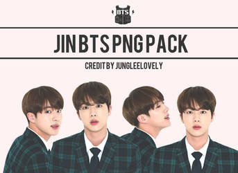 JIN BTS PNG PACK by JUNGLEELOVELY by Jungleelovely