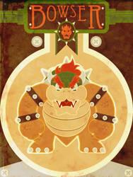 Bowser - Minimalist Poster by M-Thirteen