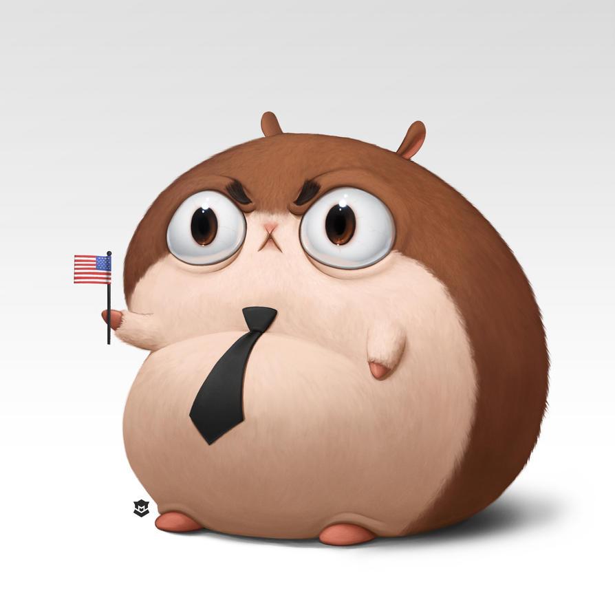 Hamster President by M-Thirteen
