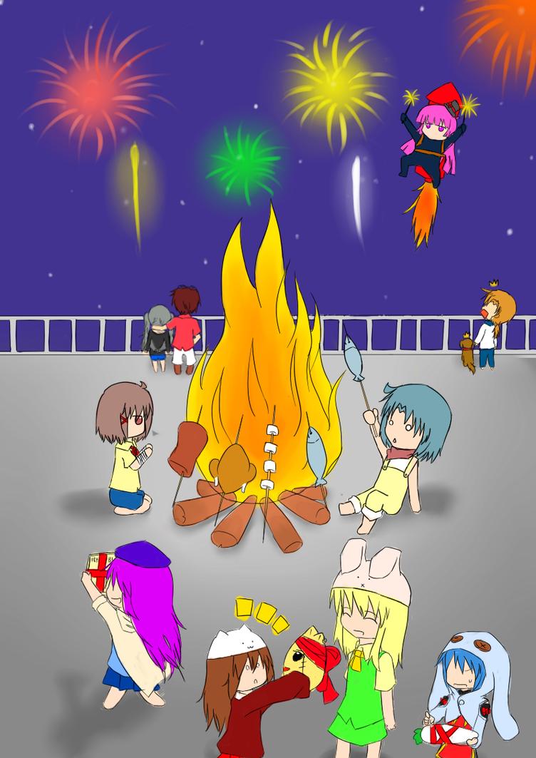 30 Gambar Api Unggun Karikatur