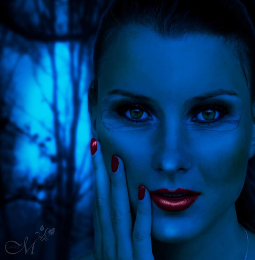 Blue Girl by MartinMannik