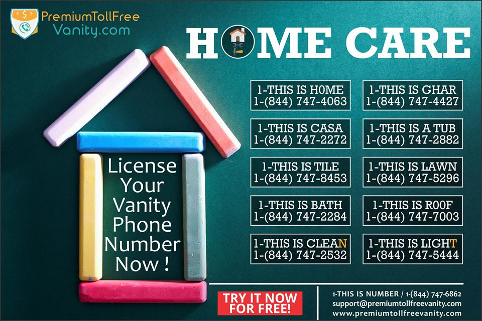 License Your Home Care Vanity Phone Number Now! By Vanitynumbr