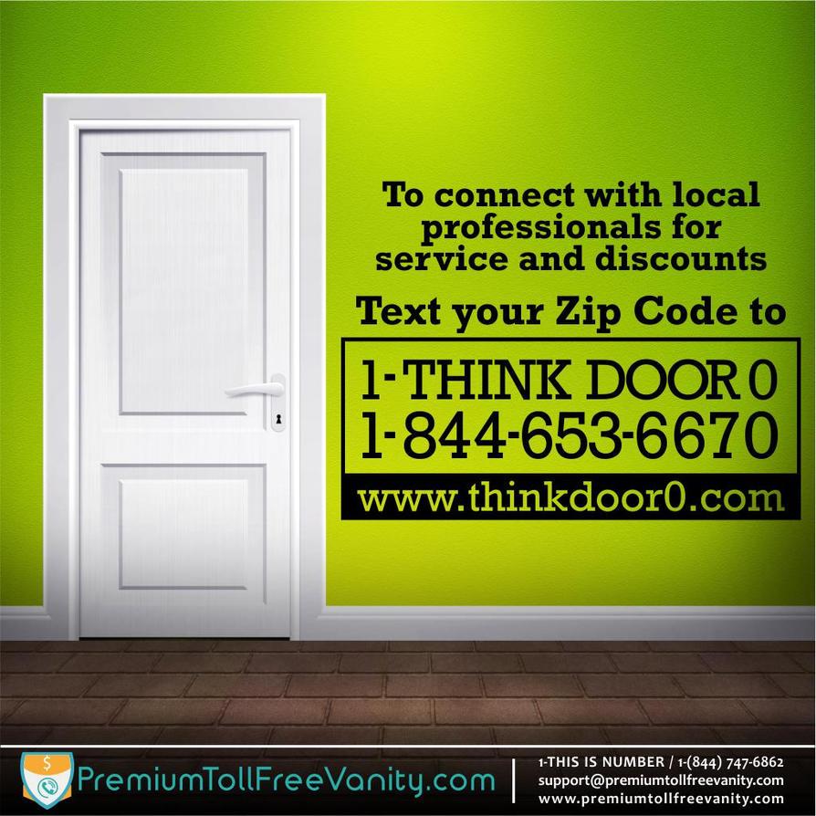 Buy License THINK DOOR 0 Vanity Toll Free Numbers By Vanitynumbr ...