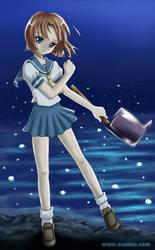Higurashi fanart: Rena by asubox