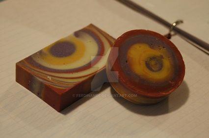 Geranium and Tangerine 1st soap by Ferdinande