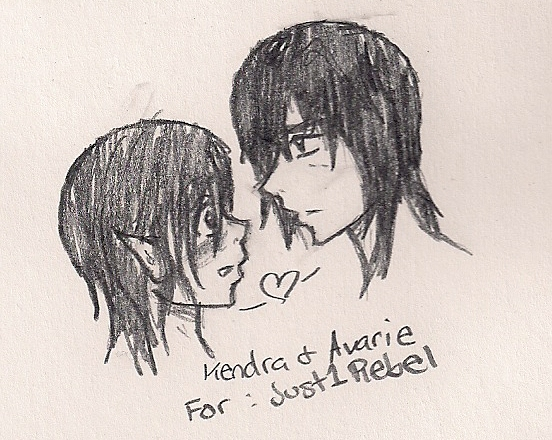 Kendra and Avarie Request by shoujoartist