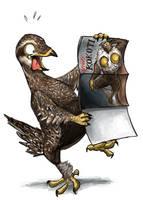 Naughty sage-grouse