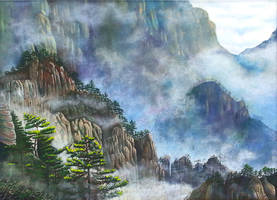 Misty Mountains by rougealizarine