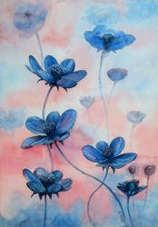 Blue flowers by rougealizarine