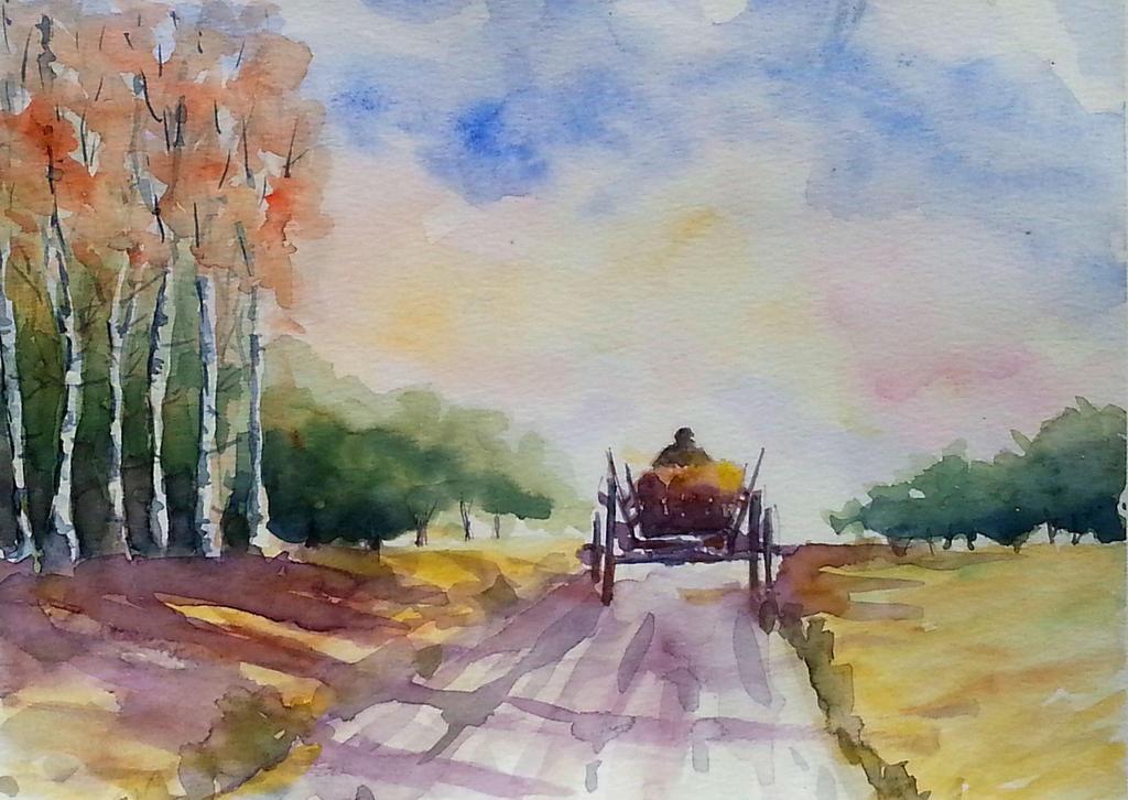 Village road by rougealizarine