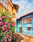 Village alley by rougealizarine