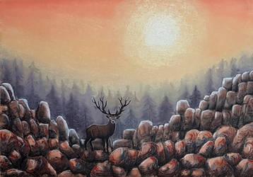 Mystic deer by rougealizarine