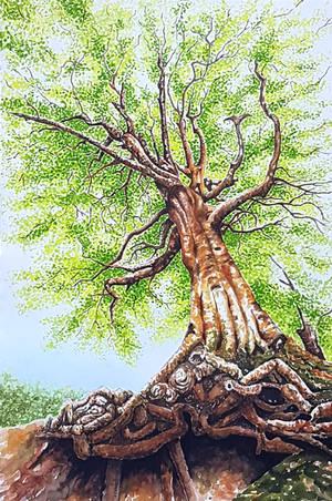 Under the tree by rougealizarine