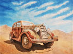 Plymouth in desert by rougealizarine