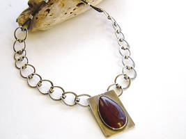 Sterling Silver and Red Jasper by MarieCristine