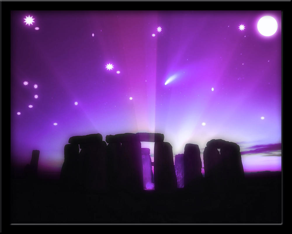 Stonehenge Midnight 3 by welshdragon