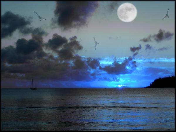 Sunset Moonrise 2 by welshdragon