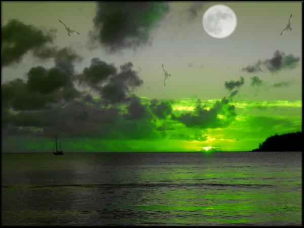 Sunset Moonrise 3 by welshdragon