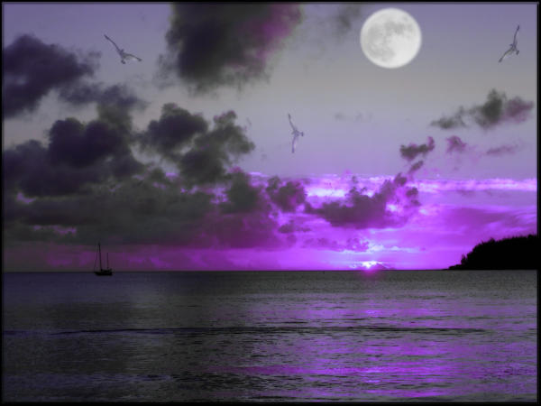 Sunset Moonrise 4 by welshdragon