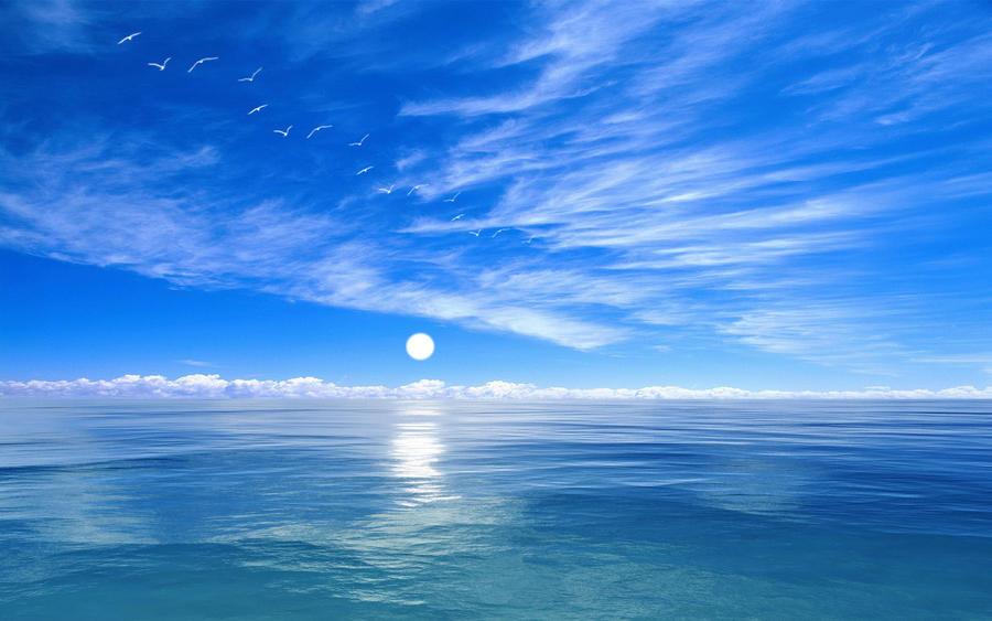 Deep Blue Ocean by welshdragon