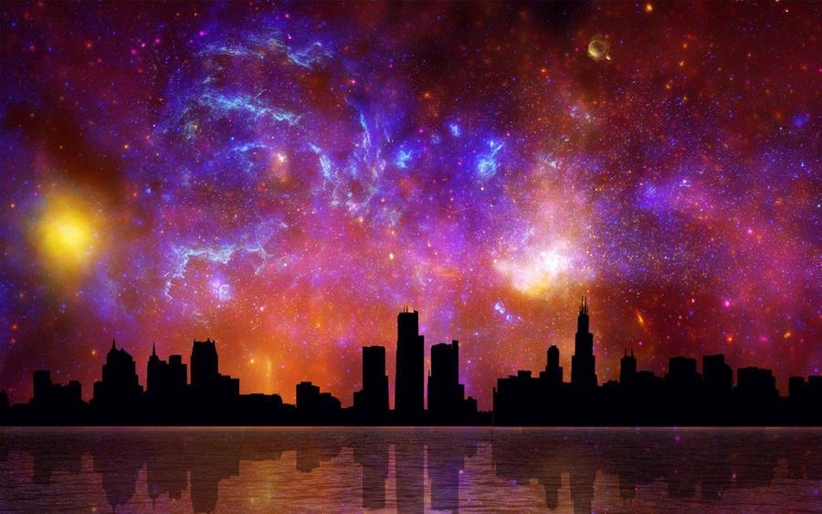 Cosmic City 2 by welshdragon