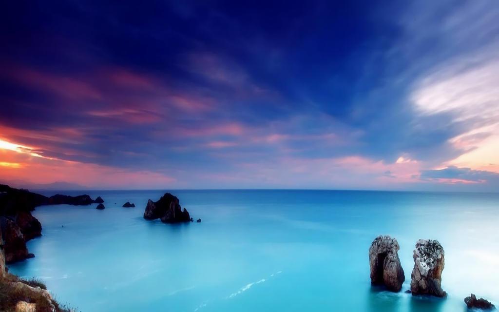 Coastal Sunset by welshdragon