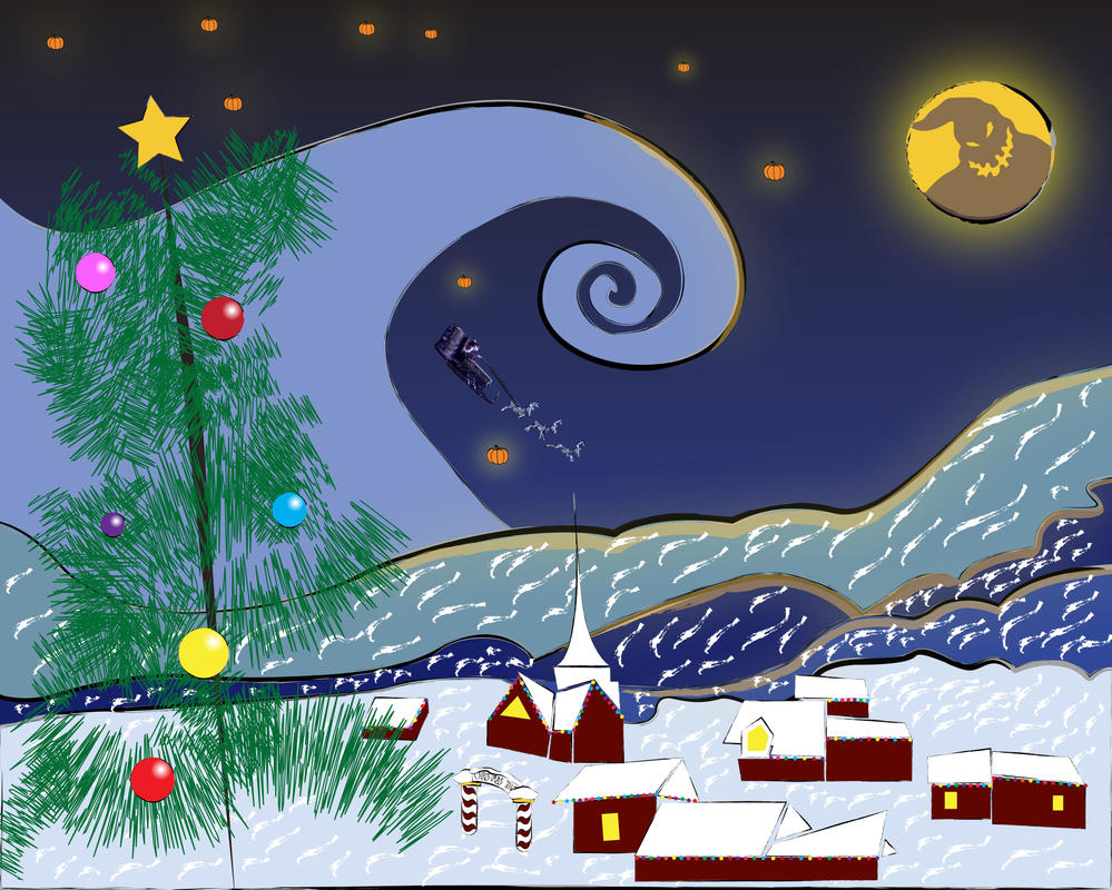 The Starry Nightmare Before Christmas-1 by atonofkittys on DeviantArt