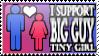 Big Guy Tiny Girl Stamp by Dragara