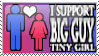 Big Guy Tiny Girl Stamp by Dragara