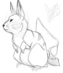 Old Pikachu Doodle by Dragara