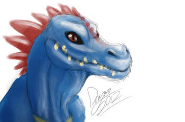 Old Totodile Doodle by Dragara