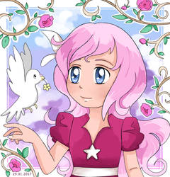 Flower from a dove by OneFrozenRose