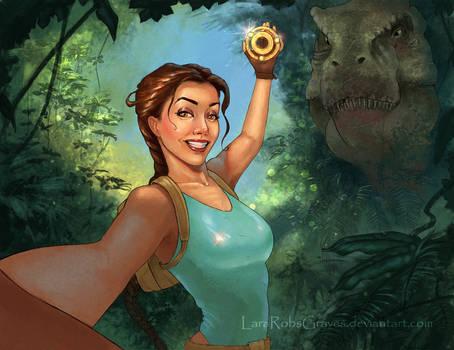 Selfie Raider: Look what I found!